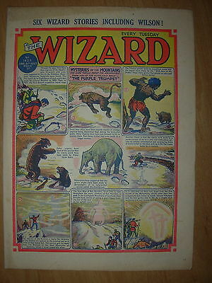 VINTAGE BOYS COMIC THE WIZARD No 1425 JUNE 6th 1953