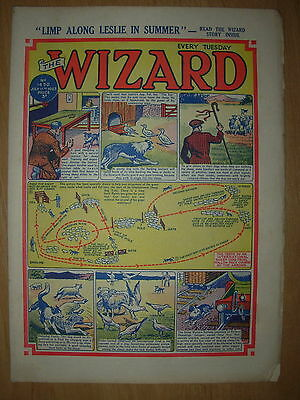 VINTAGE BOYS COMIC THE WIZARD No 1430 JULY 11th 1953