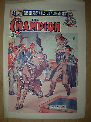 VINTAGE BOYS COMIC THE CHAMPION No 1552 OCTOBER 27th 1951