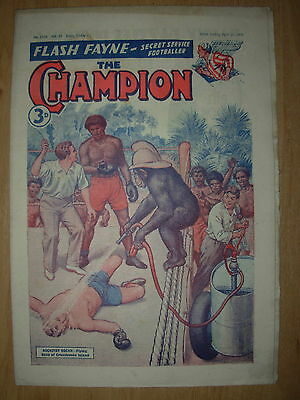 VINTAGE BOYS COMIC THE CHAMPION No 1525 APRIL 21st 1951