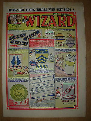 VINTAGE BOYS COMIC THE WIZARD No 1480 JUNE 26th 1954