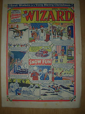 VINTAGE BOYS COMIC THE WIZARD No 1503 DECEMBER 4th 1954