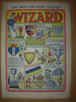 VINTAGE BOYS COMIC THE WIZARD No 1435 AUGUST 15th 1953
