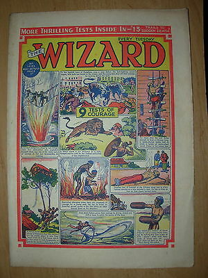 VINTAGE BOYS COMIC THE WIZARD No 1423 MAY 23rd 1953