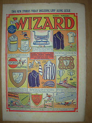 VINTAGE BOYS COMIC THE WIZARD No 1429 JULY 4th 1953