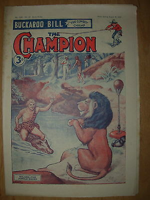 VINTAGE BOYS COMIC THE CHAMPION No 1540 AUGUST 4th 1951