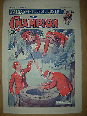 VINTAGE BOYS COMIC THE CHAMPION No 1539 JULY 28th 1951