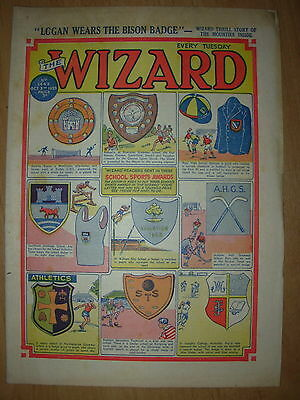 VINTAGE BOYS COMIC THE WIZARD No 1442 OCTOBER 3rd 1953