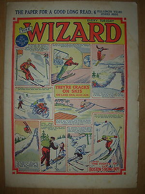VINTAGE BOYS COMIC THE WIZARD No 1412 MARCH 12th 1953