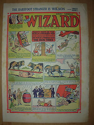 VINTAGE BOYS COMIC THE WIZARD No 1461 FEBRUARY 13th 1954