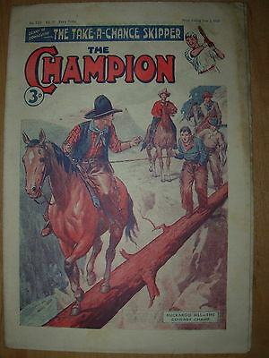 VINTAGE BOYS COMIC THE CHAMPION No 1531 JUNE 2nd 1951