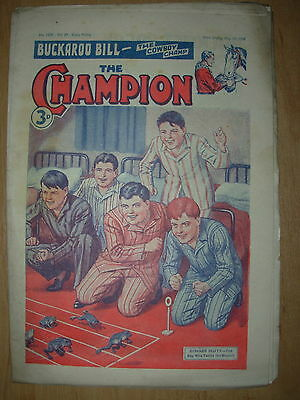 VINTAGE BOYS COMIC THE CHAMPION No 1529 MAY 19th 1951