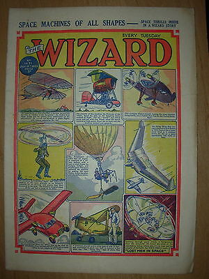 VINTAGE BOYS COMIC THE WIZARD No 1431 JULY 18th 1953