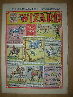 VINTAGE BOYS COMIC THE WIZARD No 1485 JULY 31st 1954