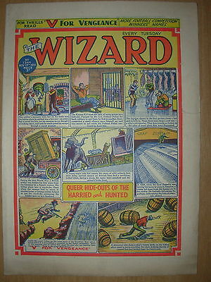 VINTAGE BOYS COMIC THE WIZARD No 1344 NOVEMBER 17th 1951