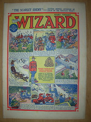 VINTAGE BOYS COMIC THE WIZARD No 1443 OCTOBER 10th 1953