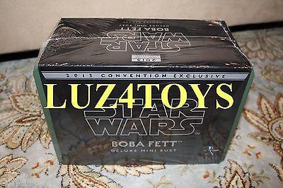Star Wars Gentle Giant Boba Fett Deluxe Mini Bust SDCC 2013 Exclusives Sealed