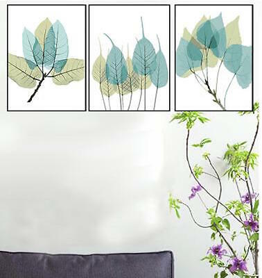 Set of Three Canvas Paint By Number Kit 3*40*50cm Leaves F3P018 S4 AU STOCK