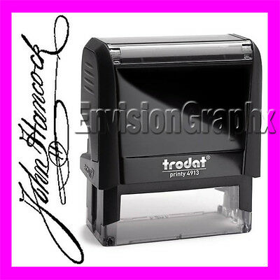 Custom SIGNATURE Self Inking Rubber Stamp Trodat 4913 stamper