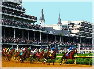 Kentucky Derby Horse Race Run for the Roses Travel Advertisement Art Poster 4