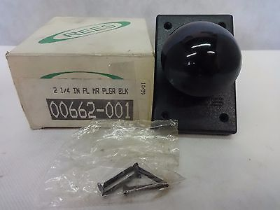 "New Rees 00662-001 Black Mushroom Plunger Pushbutton Switch Size 2-1/4"" Knob"