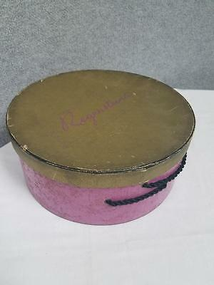 Vintage Regenstein's Hat Box 1950's Cardboard Ladies Fashion Accessory Carrier
