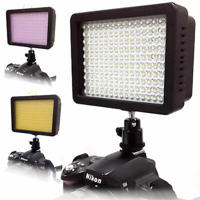 #1 160 LED Studio Video Light for Canon Nikon DSLR Camera DV Camcorder