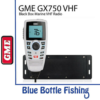 NEW GX750W Black Box VHF Marine Radio - White from Blue Bottle Fishing