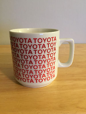Vintage TOYOTA Car Company Logo Coffee Mug Tea Cup