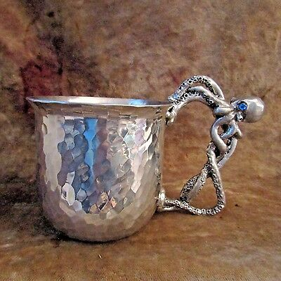 Artisan Metal Octopus Mug/ONE OF A KIND!