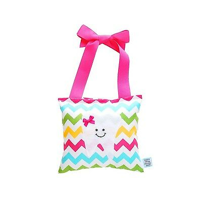 Girl's Tooth Fairy Pillow in Chevron Print Cotton NEW