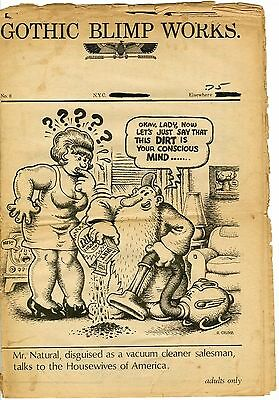 Gothic Blimp Works #8 1969 Raw 1.8 Gd- Cream/brittle Pgs Underground Comix Crumb