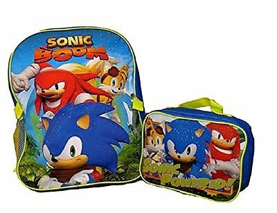 "Super Sonic ""Sonic Boom"" 16"" Backpack with Matching Lunch Box"