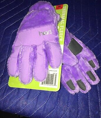 Head Thermal Fleece Gloves Periwinkle size Medium (M) For ages 7-10