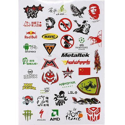 Fashion Bicycle Motorcycle Scrapbook Sticker BMX Road Bike Decal Stickers