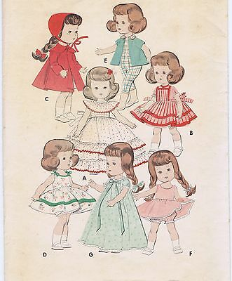 "7972 Vintage Chubby Mini-Doll Pattern - Size 8"" - 1950 Korean War"