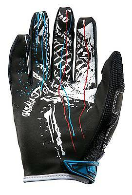 New O'Neal-MX Jump Acid Offroad/Motocross Adult Gloves, White/Red/Blue, XL