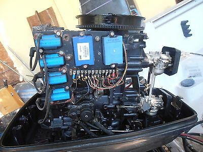 89 force mercury 125 hp complete outboard powerhead block new starter look video 1. Black Bedroom Furniture Sets. Home Design Ideas