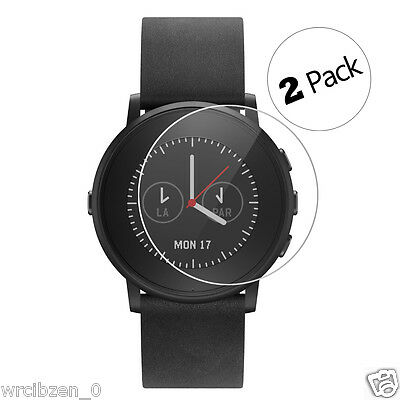 2 Pack Explosion-proof Screen Protector Glass Film For Pebble time round