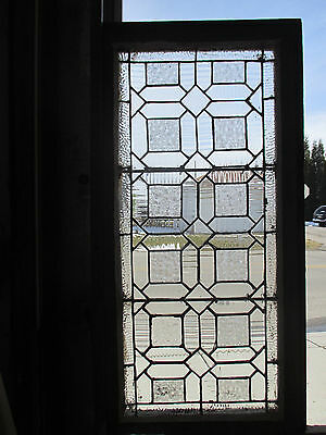 Antique American Stained Glass Window 17 X 33 Architectural Salvage