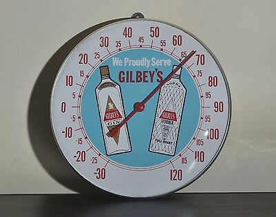 Gilbey's London Dry Gin & Vodka Advertising Thermometer