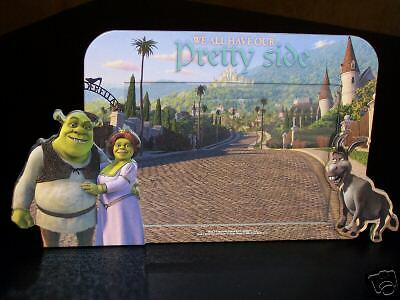 "New!! Shrek ""we All Have Our Pretty Side"" Cut 3-D Frame"
