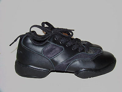 REVOLUTION 901 Dancewear Black Leather Dance Sneaker 6.5M 748 Split Sole