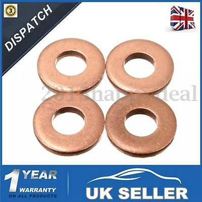 4 x Injector Copper Washer Seals O-Ring #198173 For PEUGEOT /CITROEN 1.6 HDI DV6