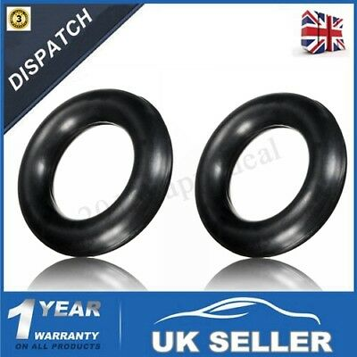 2 x UNIVERSAL EXHAUST RING HANGER MOUNTING RUBBER SUPPORT 60MM OUTER 35MM INNER