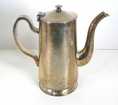 D W Haber and Son NY Water Pitcher Silverplated Vintage