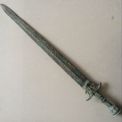 antique   Ancient Chinese bronze to ward off bad luck a sword(70cm)