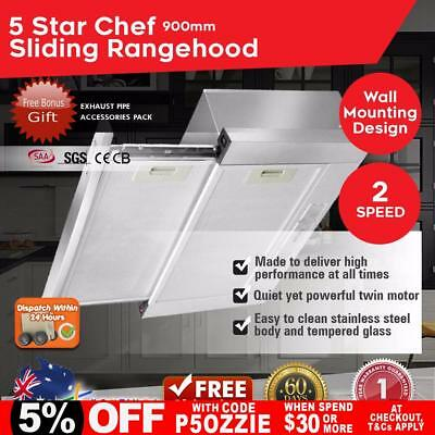 Stainless Steel Slide Out Rangehood Canopy Range Hood 900 mm Kitchen Hoods 90 cm