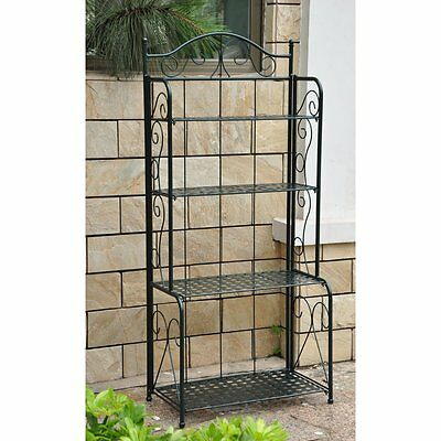 Fabulous Wrought Iron Bakers Rack Plant Stand Outdoor Potting Bench Customarchery Wood Chair Design Ideas Customarcherynet