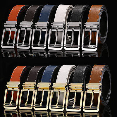 2017 New Men Business Casual Genuine Leather Belts Waistband Pin Buckle Belts